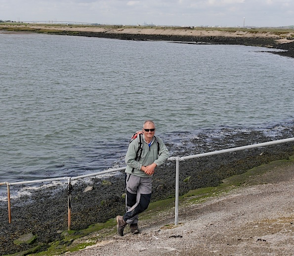 Me on final shoreline walk