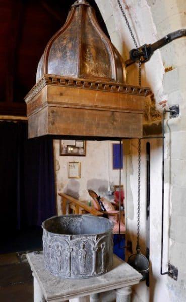 Font at St Antioch church, Lower Halstow, Kent