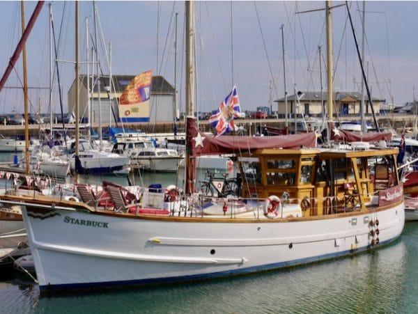MMSV Starbuck berthed in Ramsgate, Kent